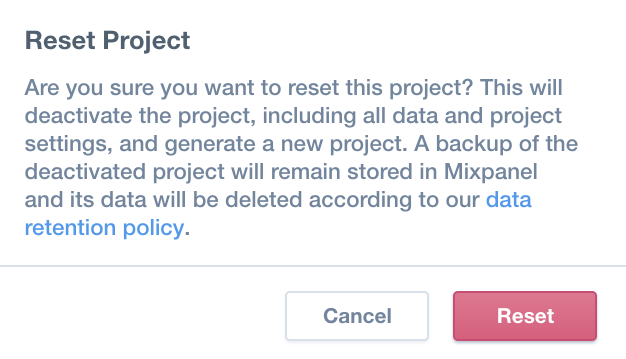 Project Settings – Mixpanel Help Center